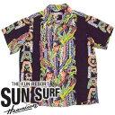 ショッピングEDITION SunSurf スペシャルエディション [SS35063] 2010年モデル ALOHA LEI BORDER アロハシャツ KILOHANA ワイン(170)