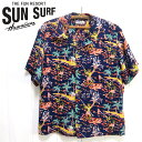 ショッピングハワイアン サンサーフ SunSurf [SS38316]2020年モデル 半袖 アロハシャツ RAYON HAWAIIAN SHIRT