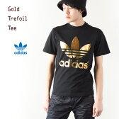 [アディダス オリジナルス] フォイル トレフォイル Tシャツ [ブラック/メタリックゴールド] adidas originals FOIL TEE SHIRT S92516