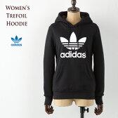 [アディダス オリジナルス レディース]トレフォイル フーディー スウェット パーカー [ブラック/ホワイト] AJ8407 adidas originals trefoil hoodie