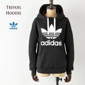 [アディダス オリジナルス レディース]トレフォイル フーディー スウェット パーカー [ブラック/ホワイト] AJ8409 adidas originals trefoil hoodie