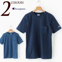 [チャンピオン Tシャツ]リバースウィーブ インディゴ Tシャツ CHAMPION REVERSE WEAVE INDIGO T-SHIRTS リバースウイーブ C3-H307 メンズ