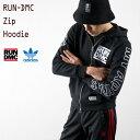 [アディダス オリジナルス]RUN DMC グラフィック ジップ フーディー adidas originals GRAPHIC ZIP HOODIE MHW25 パーカー スウェット YH