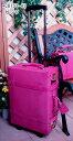 <約1?2泊用>【送料無料】シフレのユーラシアトランクCMやドラマに登場で大人気!ピッグスキン(豚革)素材トランクキャリー 43cmピンク