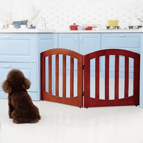 送料無料SimplyPlus高級感のある木製ペット/犬ゲートFWW-2Pペット用品ペットグッズ犬用品