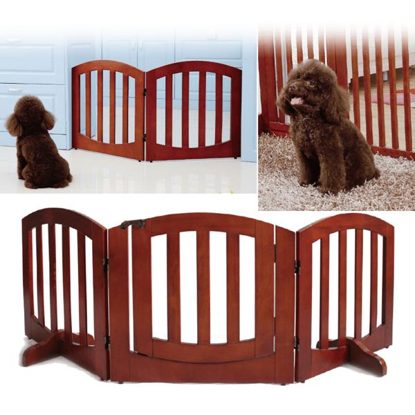 送料無料SimplyPlus高級感のある木製ペット/犬ゲートFWW-3Pペット用品ペットグッズ犬用品