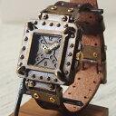 【レトロなアンティーク仕上げが施された、個性的でスチームパンクなハンドメイド腕時計】