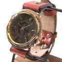 """【文字盤の木製パーツが選べます】vie(ヴィー) 手作り腕時計 """"antique wood -アンティークウッド-"""" Mサイズ [WB-007M] ハンドメイドウォッチ・ハンドメイド腕時計 メンズ・レディース アンティーク調 アナログ 本革ベルト シンプル 日本製 国産"""
