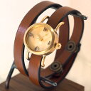 """【文字盤の木製パーツが選べます】vie(ヴィー) 手作り腕時計 """"collon wood -コロン ウッド-"""" 2重ベルト レディース [WB-051-W-BE..."""