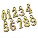 (旧タイプ)アンティーク風数字チャーム 0 ~ 9 Antique Number Charms