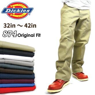 DICKIES Dickies 874 工作褲 Dickies 奇諾褲子長褲子 デッキーズ 工作穿大衣服大小啟用美國大小男士大尺寸 L LL 2 l 3 l 4 l 5 l 節學校節文化節