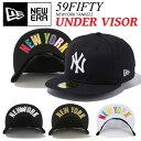 【送料無料】ニューエラ キャップ ニューヨークヤンキース アンダーバイザー NEW ERA NEWERA 59FIFTY 帽子 大きいサイズ NY CAP UNDER VISOR 定番 ニューエラ ニューヨーク ヤンキース ストレートキャップ【メール便不可】