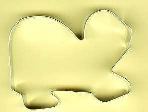 ★メール便対応★カメのクッキー型※返品交換は承っておりません。