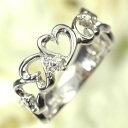 ショッピングリング ダイヤモンド リング K18WG・ダイヤモンド0.05ct ハートリング(指輪) 送料無料 ダイヤモンド指輪