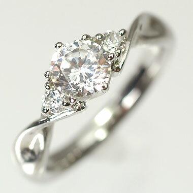 婚約指輪 プラチナ・ダイヤモンド0.5ct(F・VVS・3EX・H&C・鑑定書付) エンゲージリング(婚約指輪) 送料無料