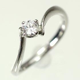 婚約指輪 プラチナ・ダイヤモンド0.2ct(H・SI・GOOD・鑑定書付) エンゲージリング(婚約指輪) 送料無料