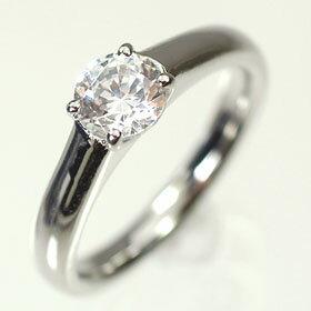 婚約指輪 プラチナ・ダイヤモンド0.7ct(F・VVS・3EX・H&C・鑑定書付) エンゲージリング(婚約指輪) 送料無料
