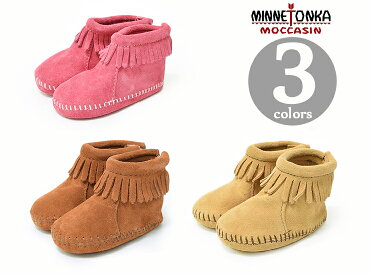 MINNETONKA/�ߥͥȥ󥫥��å�VELCROBACKFLAPBOOTIE�٥륯��Хå��ե�åץ֡��ƥ�1180HotPink/1182Brown/1187Tan�Ļ���/����ե����/�֡��ƥ�2015����
