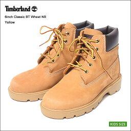Timberland/ティンバーランド 【TB010760】6INCH CLASSIC BOOT6インチ クラシック ブーツWHEAT NUBUCK/ウィート ヌバック/キッズ・子供用・靴