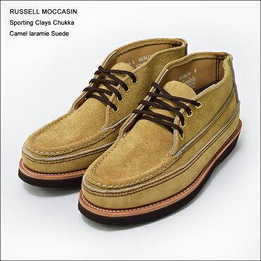 RUSSELLMOCCASIN(��å���⥫����)��S200-27W��SPORTINGCLAYSCHUKKACAMELLARAMIESUEDE2015��ǥ�