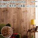 ディズニー DISNEY Pooh 壁紙クロス キャラクター壁紙 木目調 日本製 防カビ 準不燃 SV 幅93.0cm×50m巻 プーさん ウォールペーパー RPS-1227 ヴィンテージウッド (S)