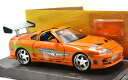 "JadaToys 1:24scale ""FAST & FURIOUS"" ""BRAIAN'S TOYOTA SUPRA""(ORANGE) ジェイダトイズ 1:24..."