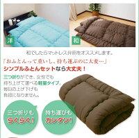 選べる10カラー洗えるシンプルでほこりの出にくい布団セット<3点セット>シングルロング