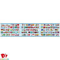 18+24+32ピース 子供向けパズル ステップ脳シリーズ ステップ3 どこでもドラえもん 世界の国旗 【ステップパノラマパズル】 アポロ社 5才から