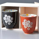 Hasami see ware Cup bicolor plum paste (gift / gift set / 内祝i / marriage 内 祝 I / wedding / return / presents / father's day / mother's day put / aged / Vatican / tags / name /, gifts / wrapping / packaging / name)