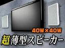 壁掛フラットスピーカー超薄型【Wall Speakerホワイ...
