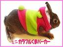 【数量限定大特価】[レインボー]ラビット・ミニカラフルくまパーカー(ピンク)