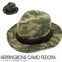ヘリンボーンCAMOフェドラハット 帽子 10195 02P03Dec16