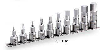 TONE 12.7(1/2) SUSヘキサゴンソケットセット(ホルダー付)SHH410【自動車整備】【自動車工具】 旨い