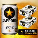 【ふるさと納税】a30-211 黒ラベル350ml×2箱【焼津サッポロビール】