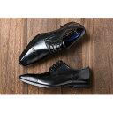 【ふるさと納税】倭イズム 牛革マッケイビジネスシューズ紳士靴YAP500(ブラック) 【ファッション...