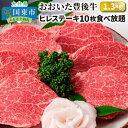 【ふるさと納税】おおいた豊後牛ヒレステーキ10枚食べ放題/計1.3kg