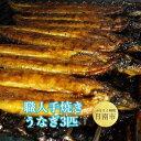 【ふるさと納税】 職人手焼きうなぎ 3匹 宮崎・鹿児島で養殖...