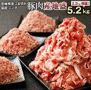 【ふるさと納税】<2.2増量!> 産地盛 豚肉 合計5.2kg 宮崎県産 豚こま切れ 計4kg(50...