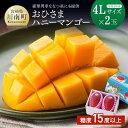 【ふるさと納税】「おひさまハニーマンゴー」4Lサイズ2個入り...