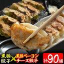【ふるさと納税】鹿児島県産黒豚餃子(2種・計90個)黒豚餃子...