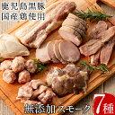 【ふるさと納税】鹿児島黒豚と国産鶏の無添加スモーク7種セット(計840g以上)お肉と塩だけの手作り燻...