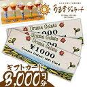 【ふるさと納税】うるまジェラートギフトカード(3000円分)
