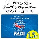 【ふるさと納税】PADIアドヴァンスド・オープンウォーターダイバーコース(1.5日コース)
