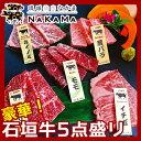 【ふるさと納税】琉球焼肉NAKAMA 豪華!! 石垣牛5点盛り(単品:2名様~3名様分)