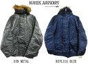 【新品】 KNOX ARMORY by ALPHA N-3B PARKA/ノックスアーモリー アルファ N3B ミリタリー フライトジャケット 【サイズ:S , M , L , X..
