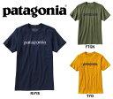 【新品】 patagonia MEN'S '73 TEXT LOGO COTTON T-SHIRT / パタゴニア メンズ '73 テキスト ロゴ コットン 半袖 Tシャツ 【サイズ:XS , S , M , L , XL , XXL】【カラー:NVYB , FTGN , TYO】【Slim Fit/スリムフィット】【38632】【古着 mellow楽天市場店】