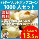【送料無料】バターソルトポップコーン 1000人セット