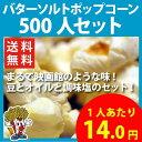 【送料無料】バターソルトポップコーン 500人セット
