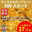 【送料無料】キャラメルポップコーン 500人セット