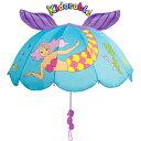 キドラブルKIDORABLE マーメイド 人魚姫 立体子供傘アンブレラ人魚 キャラクター 子供 キッズ 傘 かさ